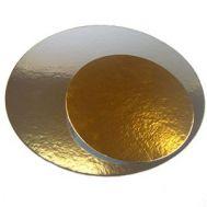 Taartkarton goud/zilver rond 35 cm - 3 st., fig. 1