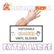 Vinyl handschoenen 100 st - maat XL, fig. 1