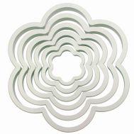 Kunststof uitstekers bloem set/6 - PME, fig. 1