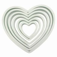 Kunststof uitstekers hart set/6 - PME, fig. 1