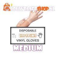 Vinyl handschoenen 100 st - maat M, fig. 1