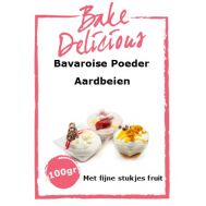 Bavaroise poeder Aardbeien met fijne stukjes fruit 100 gr - Bake Delicious, fig. 1