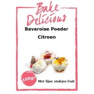 Bavaroise Poeder Citroen Met fijne stukjes fruit 100 Gr - Bake Delicious, fig. 1