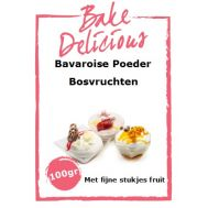 Bavaroise Poeder Bosvruchten Met fijne stukjes fruit 100 Gr - Bake Delicious, fig. 1