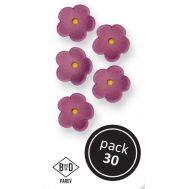 Suikerbloemen paars medium 30 st - PME, fig. 1