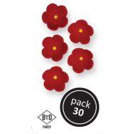 Suikerbloemen rood medium 30 st - PME, fig. 1