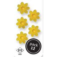 Suikerbloemen Madeliefjes geel 12 st - PME, fig. 1