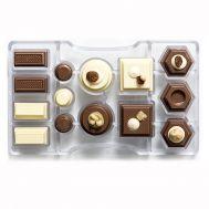Polycarbonaat Chocolade mold bonbon geometrie, fig. 1