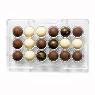 Polycarbonaat Chocolade mold halve bol 18 x 2,5 cm - Decora, fig. 1