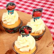 Papieren Cupcake Toppers Cars pk/24, fig. 1