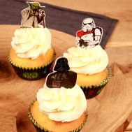 Papieren Cupcake Toppers Star Wars pk/24, fig. 1