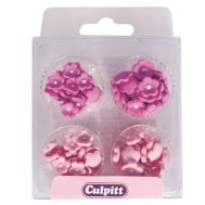 Suikerdecoratie Mini Flowers Pink 100 st - Culpitt, fig. 1