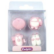 Suikerdecoratie Baby roze 12 st - Culpitt, fig. 1