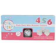 Push easy uitstekers mini cijfers set/10 - Cake Star, fig. 1