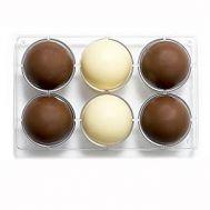 Polycarbonaat Chocolade mold halve bol 6 x 7,5 cm - Decora, fig. 1