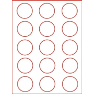 Eetbare print - 15 rondjes 5 cm, fig. 1