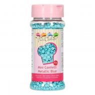 Mini confetti metallic blauw 70 gr - FunCakes, fig. 1
