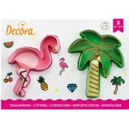 Flamingo/palmboom uitstekers set/2 - Decora, fig. 1