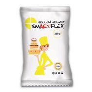 Rolfondant Velvet geel (yellow) vanille 250 gr - SmArtFlex, fig. 1