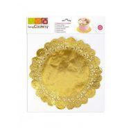 Taartrand/doilie goud 26,5 cm 6 st, fig. 1
