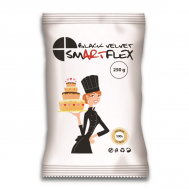 Rolfondant Velvet zwart (black) vanille 250 gr - SmArtFlex, fig. 1