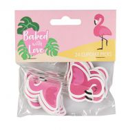 Papieren cupcake toppers flamingo - Baked with Love, fig. 1