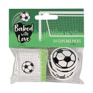 Papieren cupcake toppers voetbal - Baked with Love, fig. 1