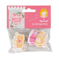 Papieren cupcake toppers prinsessen - Baked with Love, fig. 1