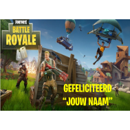A4 Fortnite Battle Royal print - Gefeliciteerd + eigen naam, fig. 1