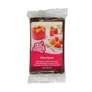 Marsepein bruin 1:4 (dark brown) 250 gr - FunCakes, fig. 1
