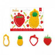 Ananas en aardbei uitstekers set/2 - Decora, fig. 1