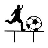 Taarttopper - Voetballer met bal, fig. 1