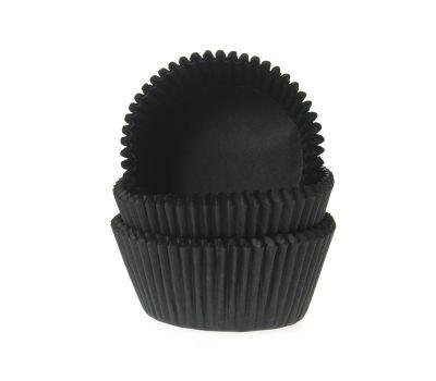 Effen zwart - baking cups (50 st), fig. 1