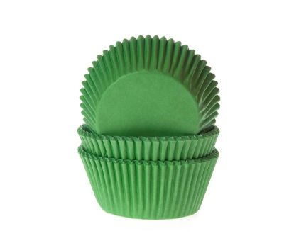Effen groen - baking cups (50 st), fig. 1