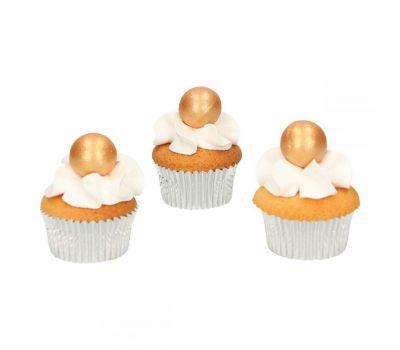 Chocolade ballen Parelmoer goud - Funcakes, fig. 2