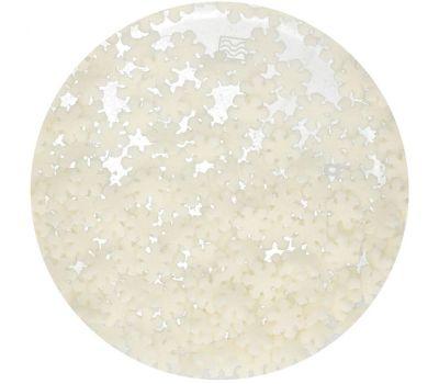 Sneeuwvlokken glitter wit 50 gr - FunCakes, fig. 2
