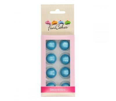 Chocolade ballen Parelmoer blauw - Funcakes, fig. 1