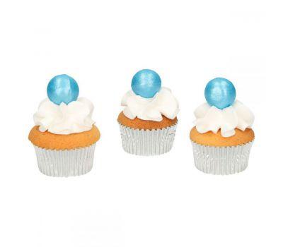 Chocolade ballen Parelmoer blauw - Funcakes, fig. 2