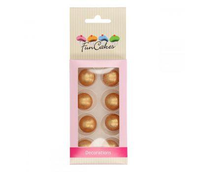 Chocolade ballen Parelmoer goud - Funcakes, fig. 1