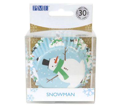Sneeuwpop baking cups (30 st.) - PME, fig. 1