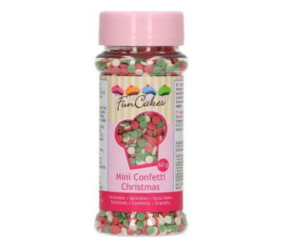 Mini confetti Kerst 60 gr - FunCakes, fig. 1