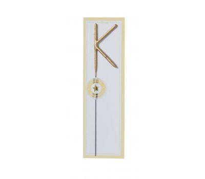Sterretje goud alfabet K - Wondercandle, fig. 1