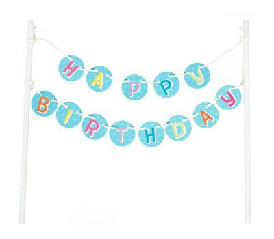 Caketopper vlaggenlijn Happy Birthday - Wilton, fig. 1