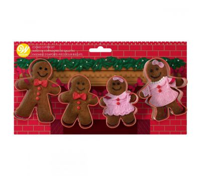 Koekjesuitsteker gingerbread familie set/4 - Wilton, fig. 1