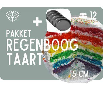 Basispakket Regenboogtaart + Ronde 15 cm bakvormen, fig. 1