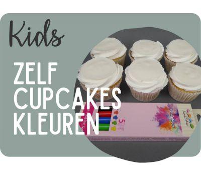 'Zelf kleuren op eetbaar papier' cupcakes pakket, fig. 9