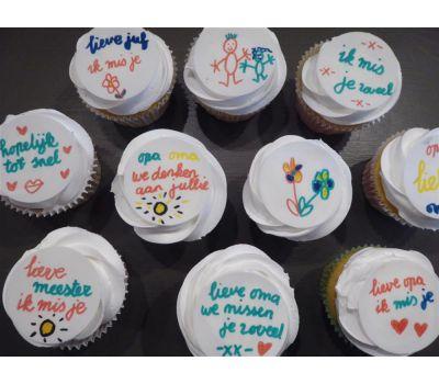 'Zelf kleuren op eetbaar papier' cupcakes pakket, fig. 10