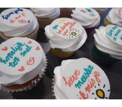 'Zelf kleuren op eetbaar papier' cupcakes pakket, fig. 12