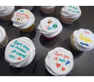 'Zelf kleuren op eetbaar papier' cupcakes pakket, fig. 13