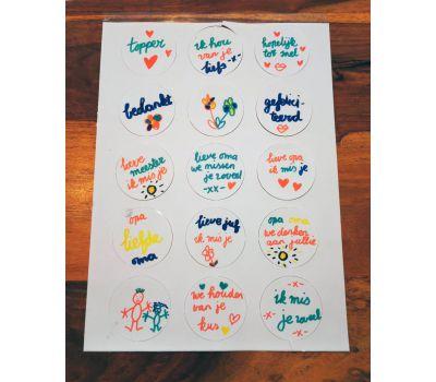 'Zelf kleuren op eetbaar papier' cupcakes pakket, fig. 11